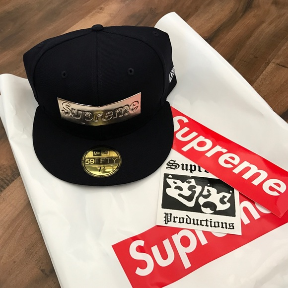 e0b3f86a5fa Supreme Men s New Era Gold Box Logo Hat