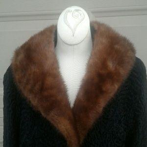 Harper's  Jackets & Blazers - Harper's Astrakhan and mink fur vintage short coat