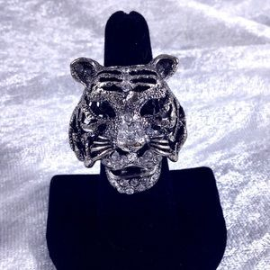 Boutique Jewelry - BOHO Glam Tiger Crystal Statement Ring Movable