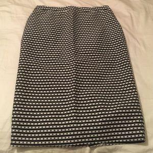 Black and White Pencils Skirt