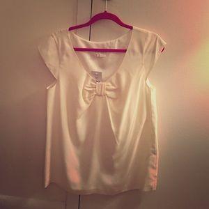 NWT white Kate Spade 100% silk blouse