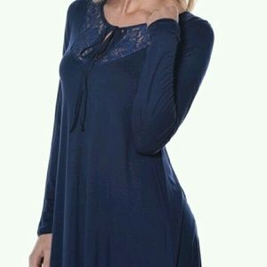 Pastels Clothing Tops - Sale! Cute Front Lace Tunic!