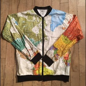 44 off jackets blazers tyvek world map jacket from jeans jackets coats tyvek world map jacket gumiabroncs Choice Image