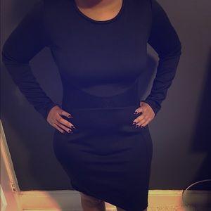 Belle sky Dresses & Skirts - Black long sleeve midi dress