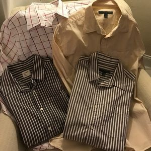 4 Men's dress shirts