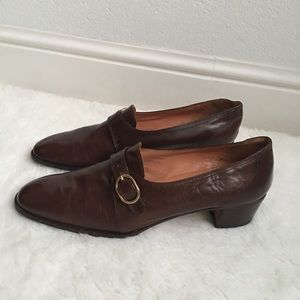 Bally Shoes - Vintage Bally Brown Leather Shoes size 9