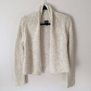 Eileen Fisher Sweaters - Eileen Fisher White Cotton & Linen Knit Cardigan