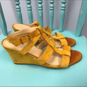 J Crew shoes wedges sandals woman size 9 leather