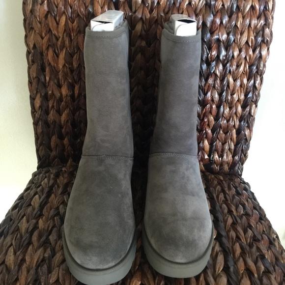 ugg shoes sale michelle short grey boots poshmark rh poshmark com ugg women's classic short boot sale ugg classic short ii boot sale