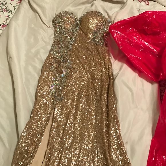 27% off Jovani Dresses & Skirts - Jovani gold prom dress from ...