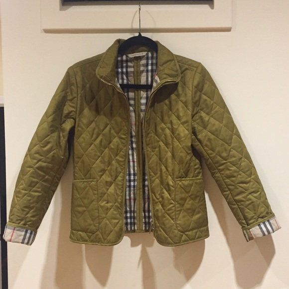 Burberry 🌟 Olive Burberry Quilted Zip Jacket From Nur