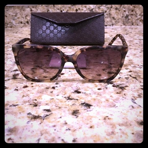 da99ccdf5aca Gucci Accessories - Large marbled cat eye Gucci sunglasses