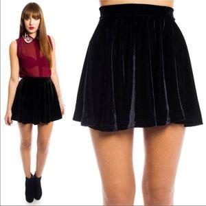 Rainbow Dresses & Skirts - Velvet Skater Skirt