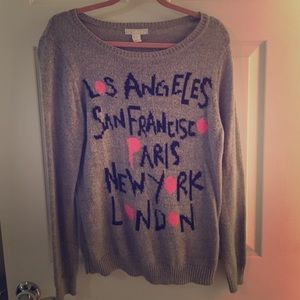 Forever 21 Crew Neck City Sweater