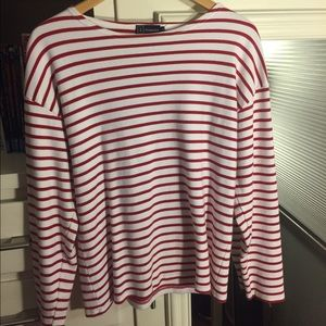 Armor Lux Other - Striped red and white long sleeve