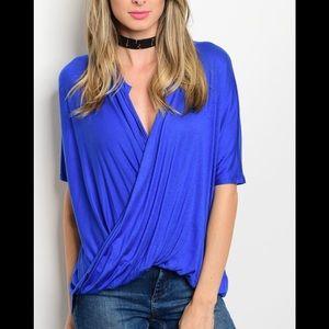 Versatile royal blue or black top