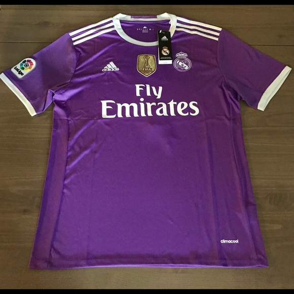 san francisco b2268 7cd96 Real Madrid purple Bale #11 adidas soccer jersey NWT