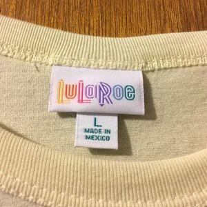 LuLaRoe Tops - NWT Ivory LulaRoe Randy w/ Gray and Black Sleeves