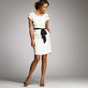 J. Crew Dresses & Skirts - J. Crew Silk cream shimmy dress holiday