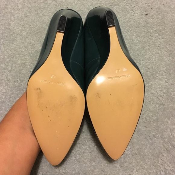 Pour la Victoire Shoes - Pour la Victoire Teal Patent Leather Wedges