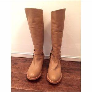 SAMBAG tan leather riding boots