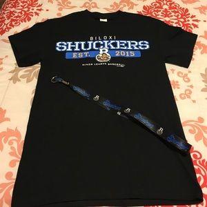 Gildan Other - Adult Small Biloxi Shuckers T-Shirt & Lanyard