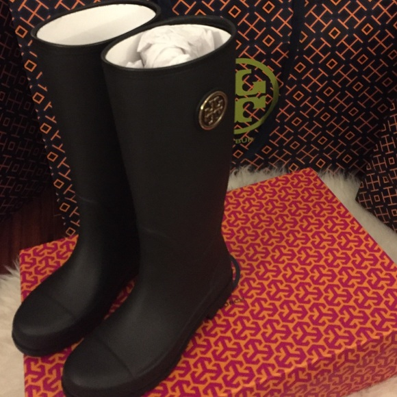 Tory Burch Boots Navy With Red For Women Selling Well