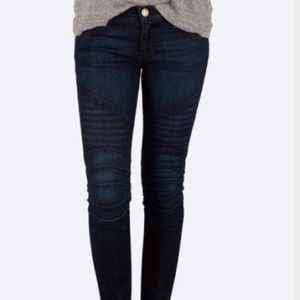 Current Elliott moto skinny jeans