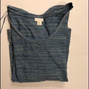 mercer & madison Tops - Blue striped shirt