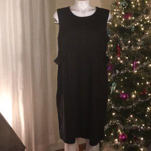 NWT Liz Lange Size L Maternity Black Dress