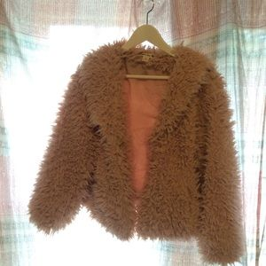 Jackets & Blazers - Boutique faux fur jacket in blush