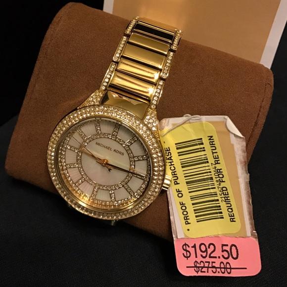 14b3846198a9 💎⌚️Michael Kors⌚ 💎 Kerry Pave  Gold Tone Watch