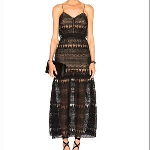 Brand new Self-portrait lace maxi dress