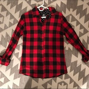 Red/Black Buffalo Plaid Flannel