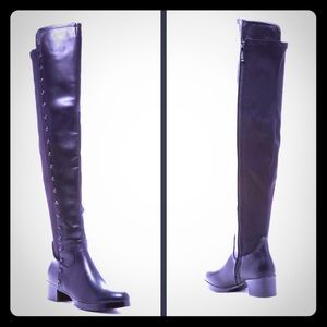 Shoes - Black Demy Over -the -knee boot