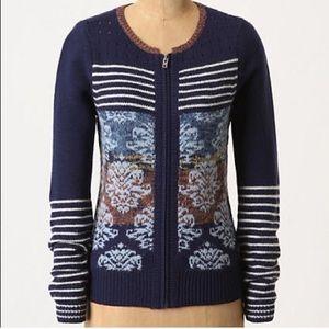 Navy Anthropologie wool sweater | Sparrow