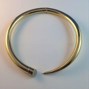 Michael Kors Gold Choker Crystal Pave Necklace