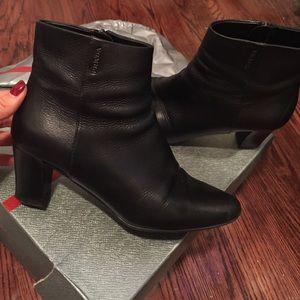 Prada Shoes - Like new black leather Prada booties size 36.5