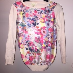 shabby apple Tops - Shabby Apple Flower Multicolor Sweater Size Small
