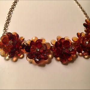 J. Crew Flower Crystals Necklace