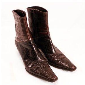 Via Spiga Shoes - VIA SPIGA Croc Embossed Leather- Ladies Size 7.5
