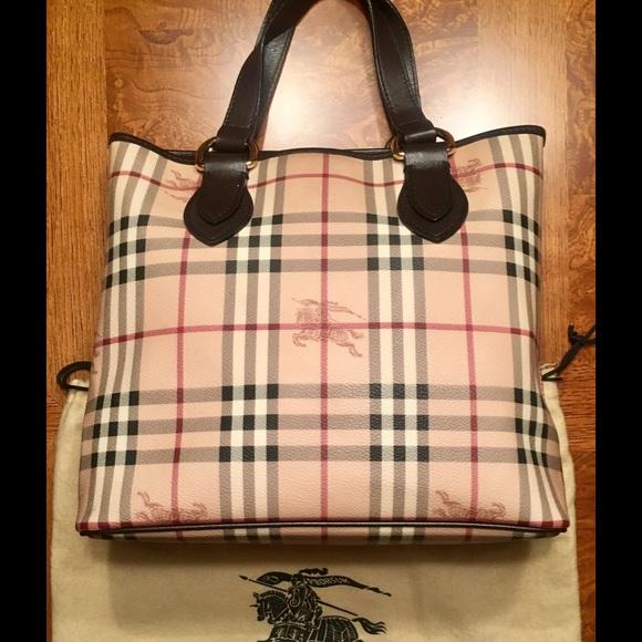fe06b60e158b Burberry Handbags - Authentic Burberry Haymarket Check Tote Bag
