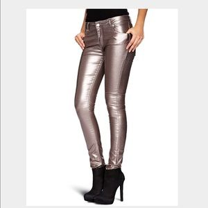 Supertrash Pants - Supertrash bronze skinny pants