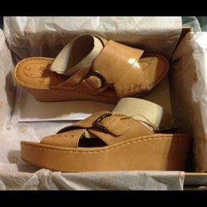 7aa2c29d8857 Born Shoes - Born Curstyn Leather Platform Wedge Sandal NWT
