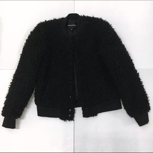 8bead8b063e Who What Wear Jackets   Coats - Textured  Teddy Bear  Bomber Jacket