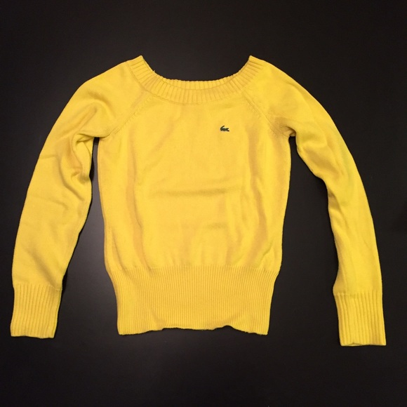 70% off Lacoste Sweaters - Lacoste canary yellow sweater from ...