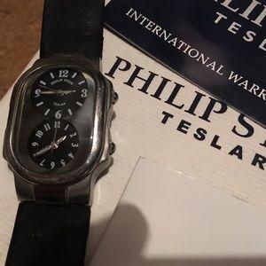 Philip Stein Teslar Other - Philip Stein Black Tesla Watch 2 extra straps