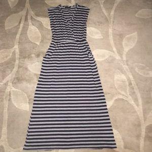 American City Wear Dresses & Skirts - American City Wear Navy & Grey Striped Dress
