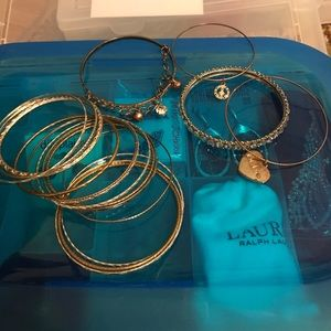 Jewelry - Set of silver, gold and some with charm bangles