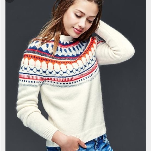 56% off GAP Sweaters - Gap Fair Isle sweater and hat from Alicia's ...